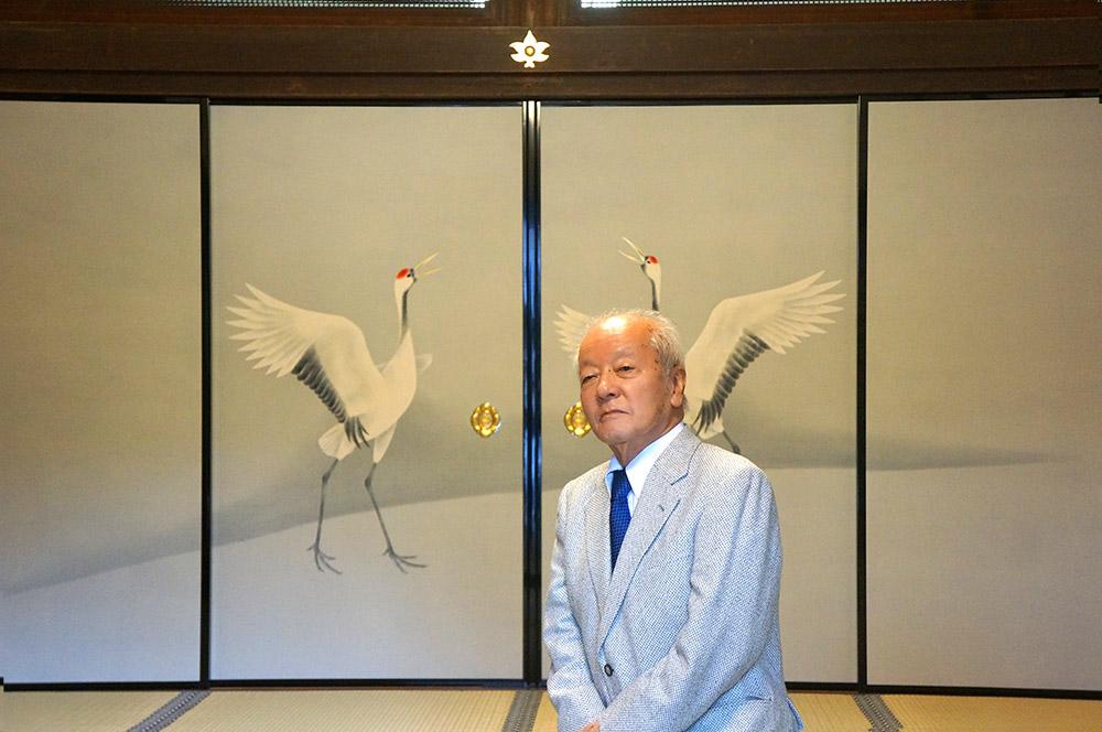 上村先生、山本氏、住職